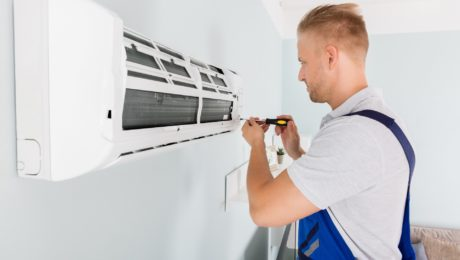 installation of air conditioning units