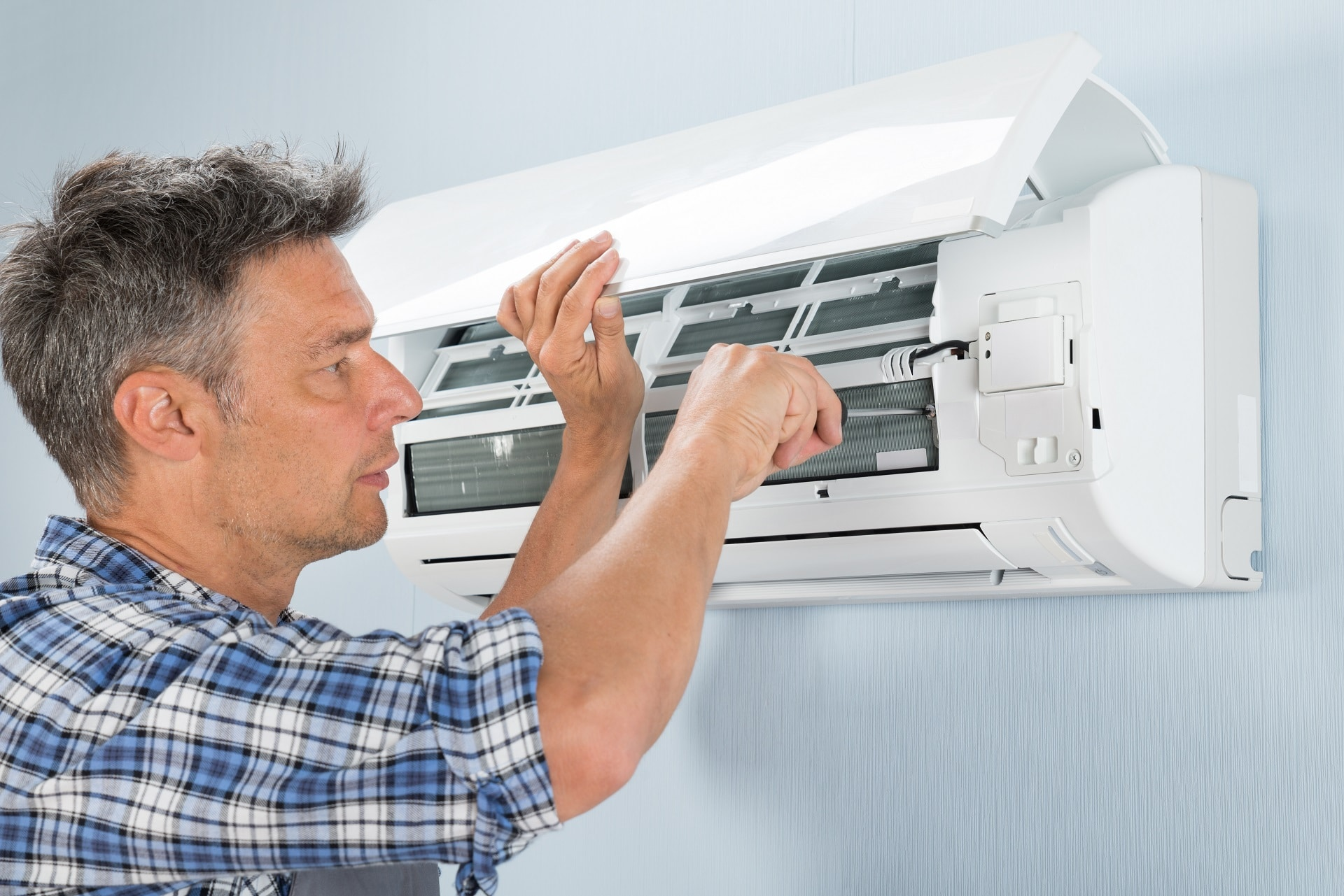 Ductless AC system tune-up